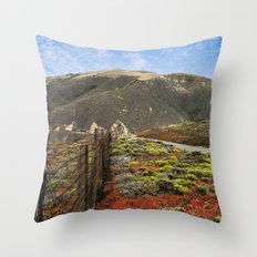 Big Sur Mountains Throw Pillow