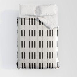 Piano Key Stripes Comforters