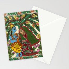 Radha Krishna Madhubani Stationery Cards