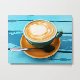 Latte coffee Metal Print