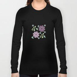 Wild Flowers in Lavender 3 Long Sleeve T-shirt