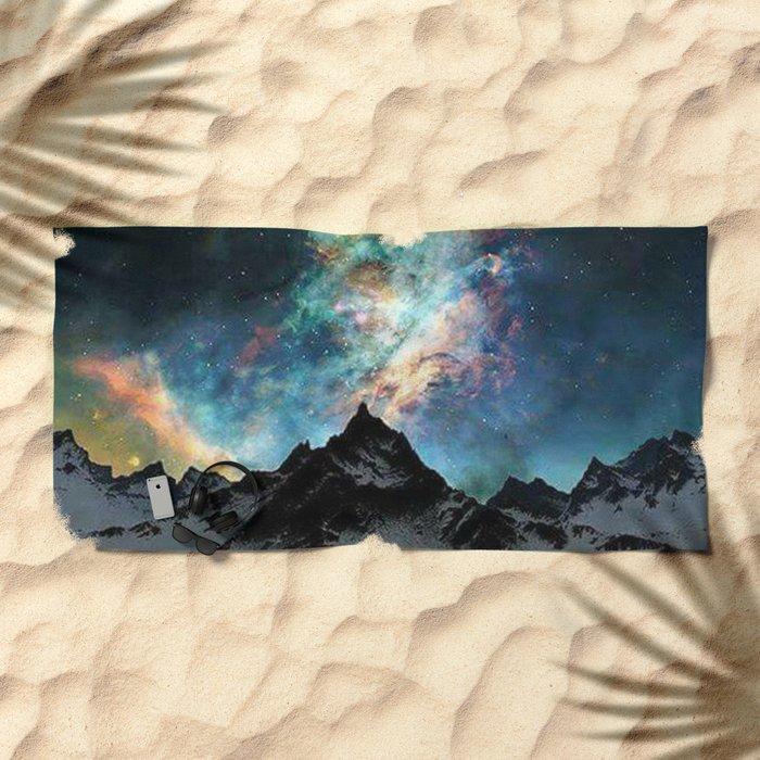 NORTHERN LIGHT ALASKA Beach Towel