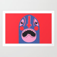 The Mad Lucha Art Print