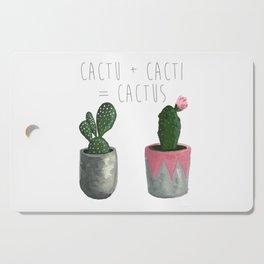 Cactu + Cacti = Cactus Cutting Board
