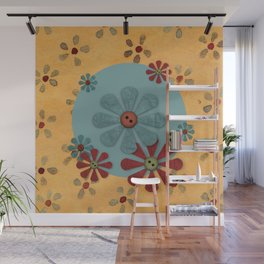 Country Flowers Wall Mural