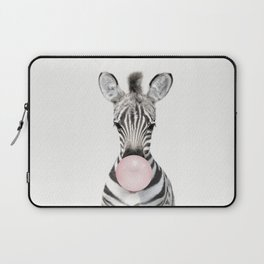 Bubble Gum Zebra Laptop Sleeve