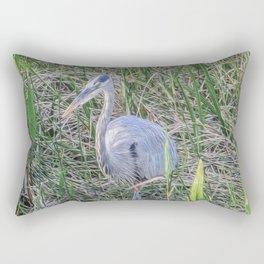 Hello Blue Heron Rectangular Pillow