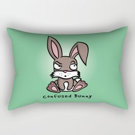 Confused Bunny Rectangular Pillow