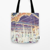 carousel Tote Bags featuring Carousel  by Bree Madden