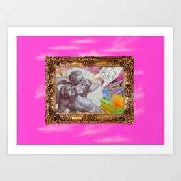 Angelo dell Gatto - Variations on the theme of the Italian Baroque Art Print