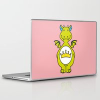 dino Laptop & iPad Skins featuring dino ♥ by Walkie Talkie Girl