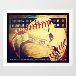 There is crying in baseball Art Print