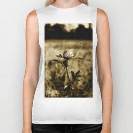 Flowers - Wildflower Monotone Biker Tank