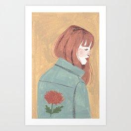 Chrysanthemum Jacket Art Print