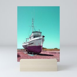 Wooden Boat Troller Fishing Oregon Coast Mini Art Print