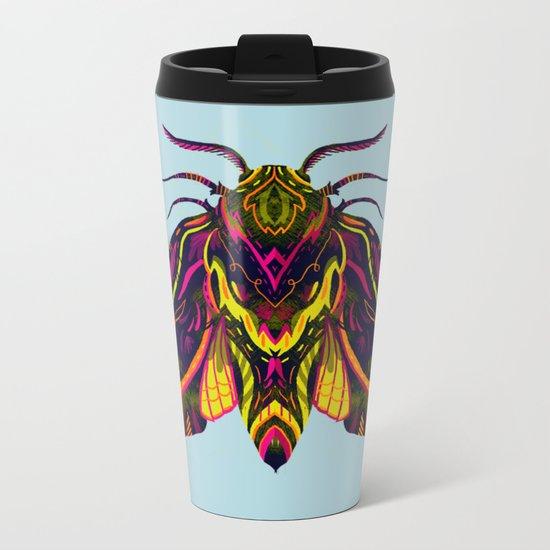 Elephant Hawk Moth Metal Travel Mug