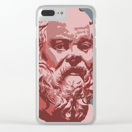 Socrates Clear iPhone Case