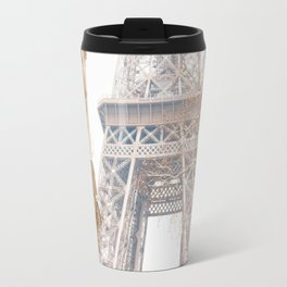 Paris Eiffel Tower in Snow Travel Mug