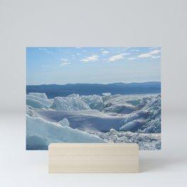 Pressure Ridges of Ice Lake Mini Art Print