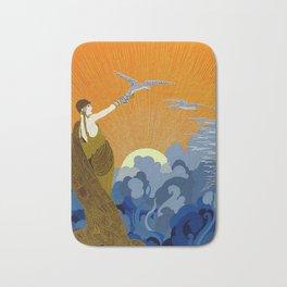 """Wings of Victory"" Art Deco Design Bath Mat"