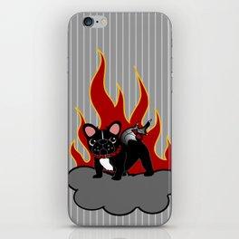 Devilish Frenchie  iPhone Skin