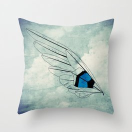 Build Your Wings Throw Pillow