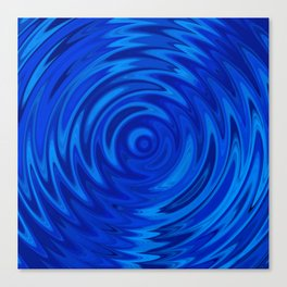 Water Moon Cobalt Swirl Canvas Print