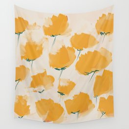 The Yellow Flowers Wall Tapestry
