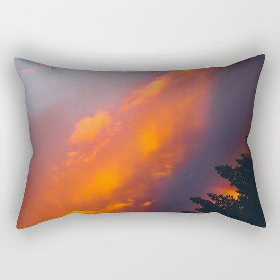 Bend Oregon: sunset & rainbow Rectangular Pillow