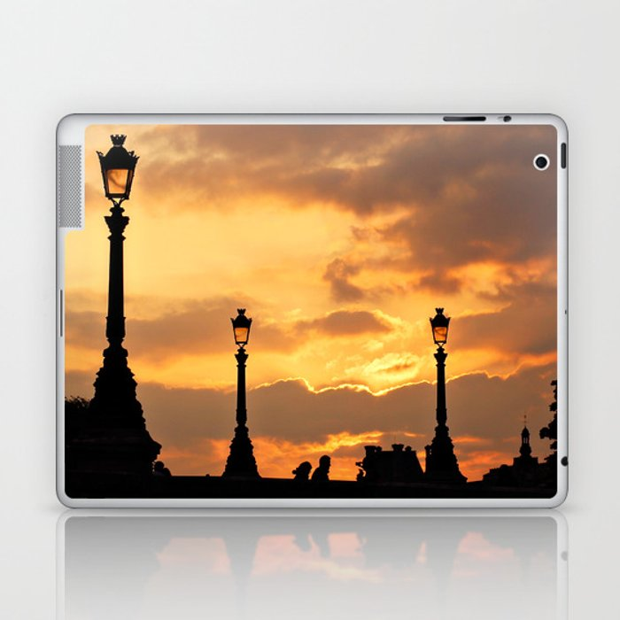 A sunset in Paris Laptop & iPad Skin