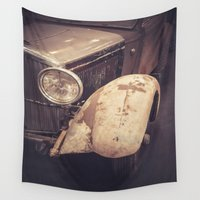 car Wall Tapestries featuring Vintage Car by Maria Heyens