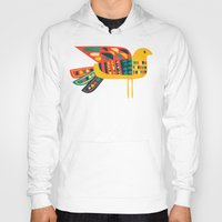 mid century Hoodies featuring Century Bird by Picomodi