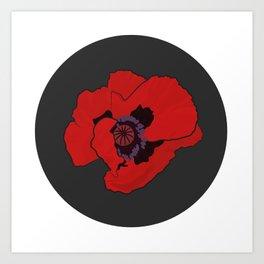 Poppy time Art Print