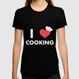 I Love Cooking Chef'S Hat Cook Baking Food Lovers T-shirt