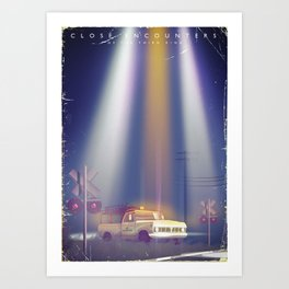 Close encounters of the third kind vintage poster Art Print