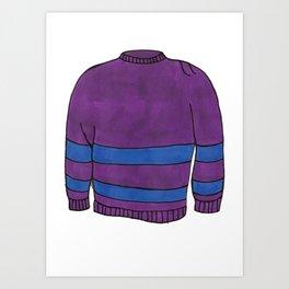 Season 1, Episode 23 (full sweater) Art Print