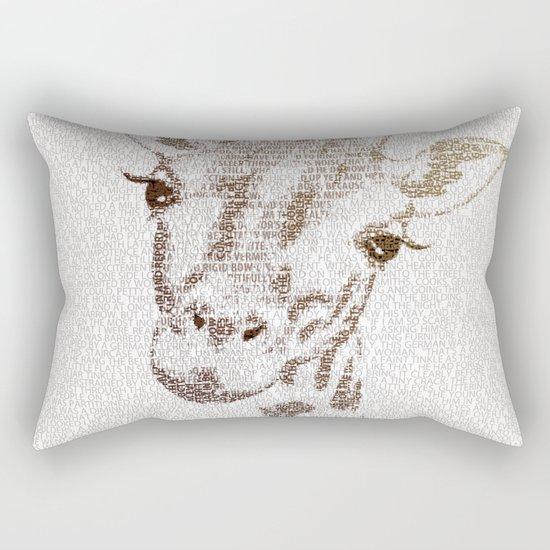 The Intellectual Giraffe Rectangular Pillow