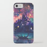water color iPhone & iPod Cases featuring The Lights by Alice X. Zhang