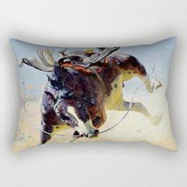 "William Leigh Western Art ""A Fighting Cyclone"" Rectangular Pillow"