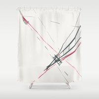 bridge Shower Curtains featuring BRIDGE by  ECOLARTE