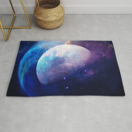 Galaxy Moon Space Rug