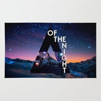 bastille Area & Throw Rugs featuring Bastille - Of The Night by Thafrayer