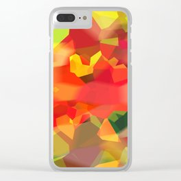 Abstract Polygon Forest Clear iPhone Case