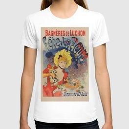 Bagn Res De Luchon F Tes Des Fleurs 1890 By Jules Cheret | Reproduction Art Nouveau T-shirt