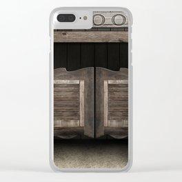 Wild West Cowboy Saloon Clear iPhone Case