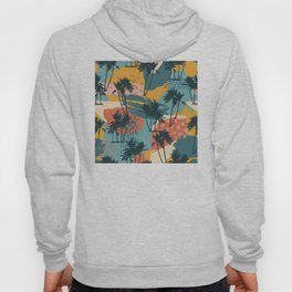 Abstract Modern Art: Palm Trees in Paradise Hoody