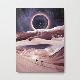 Magical snowy night Metal Print
