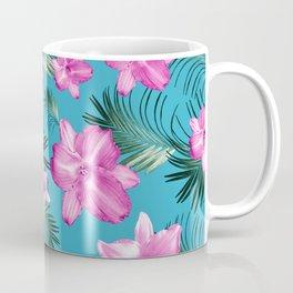 Tropical Flowers Palm Leaves Finesse #3 #tropical #decor #art #society6 Coffee Mug