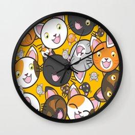 Cats Wall Clock