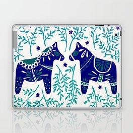 Swedish Dala Horses – Navy & Blue Palette Laptop & iPad Skin